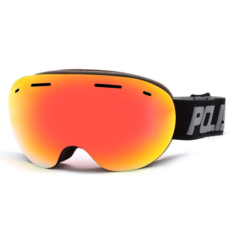 Double pont anti-buée grand miroir de ski sphérique pour hommes et femmes sports de plein air large champ sans cadre lunettes de ski lunettes