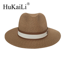 The spring/summer jazz straw hat Sun hat Breathable hat street travel joker bonnet