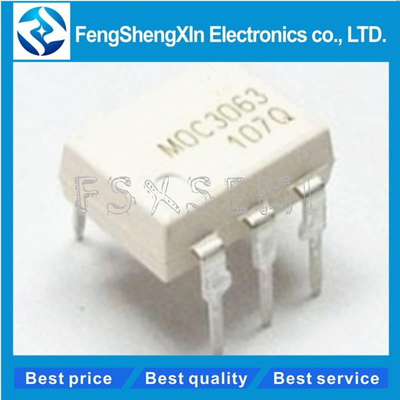10pcs/lot MOC3063 MOC3063M DIP-6 Driver Output Optocoupler IC