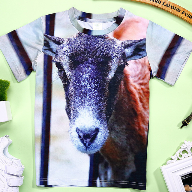 2017 New Summer 3D T-shirts Baby Boys 3D Printed Tees Children Animal Tshirts for Girl Child Kids Soft T Shirts