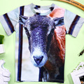 2017 Nuevo Verano 3D Camisetas de Los Bebés 3D Camisetas Impresas Niños Animal Camisetas para Niña Niño Niños Suaves Camisetas