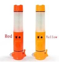 5 In 1 Multi Function Safety Broken Windows Hammer Traffic Baton Warning Light Emergency Escape Tool