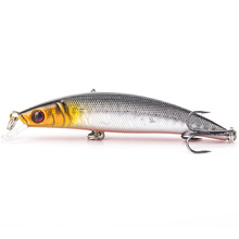 Plastic fishing lures fishing bait minnow bass Floating lure fishing tackle Hooks 8cm 9.1g Diving 0.5-1.5m