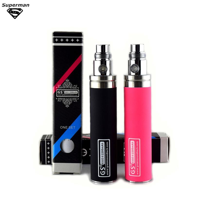 5pcs 2200mah EGO Big Capacity 2200mah EGO II Battery For Electronic Cigarette Ego/510 Thread Battery fit CE4 CE5 mt3 e cig