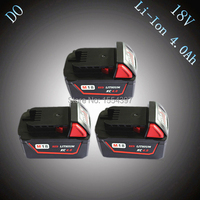 3pcs New 18V Lithium Ion 4000mAh Replacement Rechargeable Power Tool Battery For Milwaukee M18 XC 48