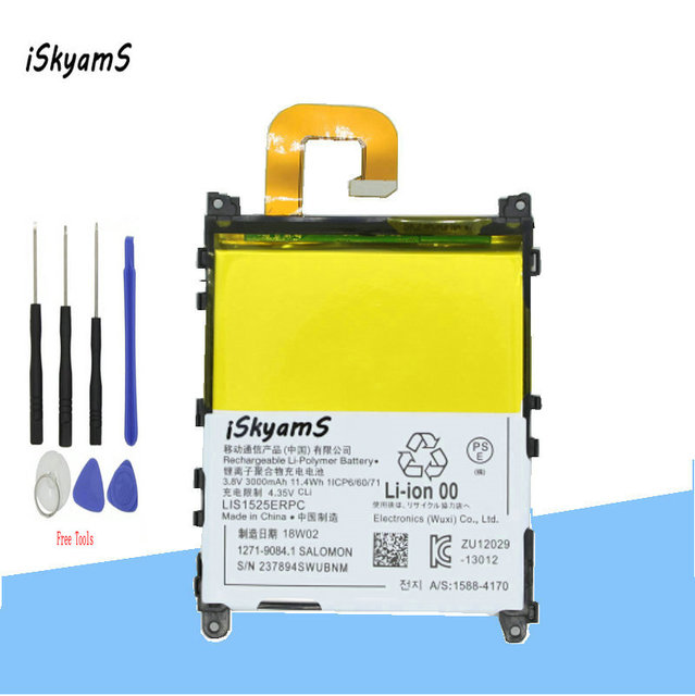 ISkyamS 1x3000 mAh LIS1525ERPC Thay Thế Li-Ion Pin Cho Sony Z1 L39H L39T L39U C6902 C6903 C6916 C6943 D5503 + công cụ