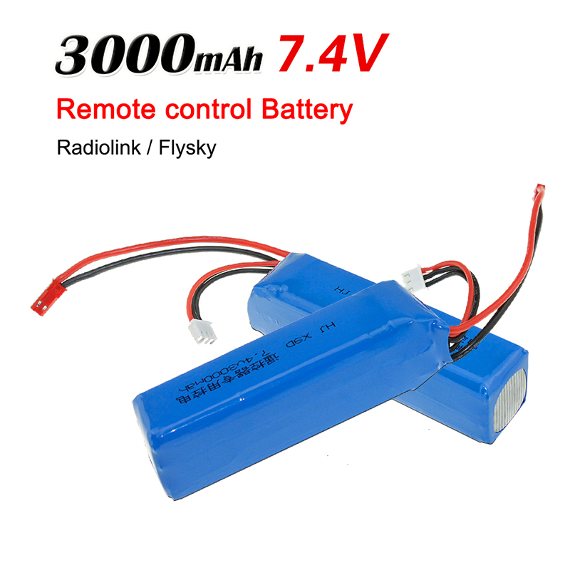 <font><b>Lipo</b></font> <font><b>Battery</b></font> 2S <font><b>7.4V</b></font> <font><b>3000mAh</b></font> Recharegabel Safe For Frsky Taranis X9D Plus Radiolink Transmitter RC Toys Model image