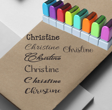 Custom Name Stamp Signature Calligraphy Selfing inking personalized  stamp for School and office