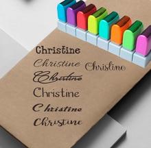 Custom Name Stempel Unterschrift Kalligraphie Selfing farbwerk personalisierte stempel für Schule und büro