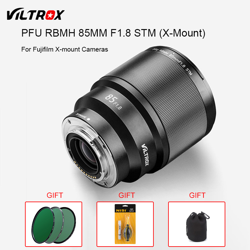 VILTROX PFU RBMH 85mm F1.8 STM X-monte Foco Automático AF Lente Principal Padrão Retrato Lente para Fuji XT3 XT100 X-PRO FX-mount Camera