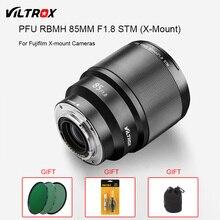 VILTROX PFU RBMH 85mm F1.8 STM X-mount AF Auto Focus Standard Prime Lens Portrait  for Fuji XT3 XT100 X-PRO FX-mount Camera