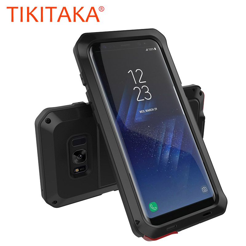 the best attitude 2a514 036c2 Metal Military Anti-Knock Dustproof Shockproof Armor Samsung Galaxy S8 S9  Plus S7 S6 Edge S5 S4 Note 8 5 4 3 S9 Cover