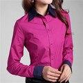 Shirts Blouses 2017 Plus Size 5XL 6XL Women's Tops Cotton Button Down Long Sleeve Shirts Formal Tunic Blouse Top Blusas Feminina