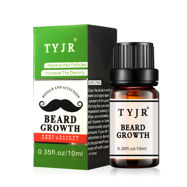 Natural Organic Beard Oil 10ML Men Beard Growth Fluid Beard Wax balm Leave-In Conditioner For Groomed Hair Growth Essential oil 1