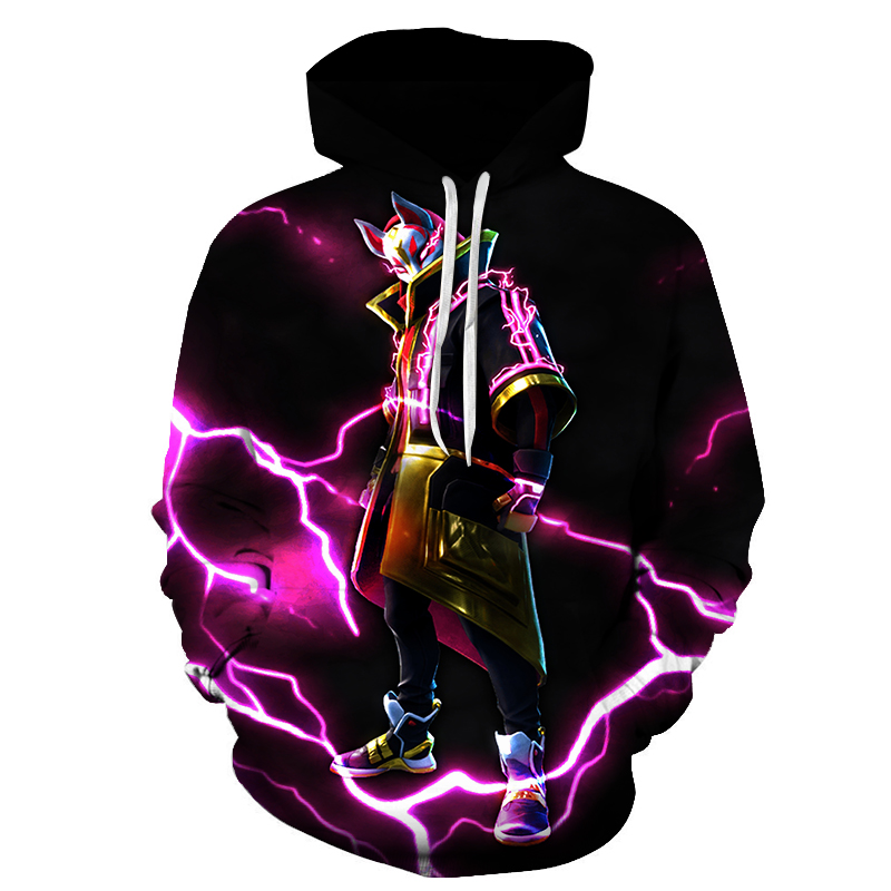 3D Hoodie Battle Royale Print Sweatshirt Men Women Hooded Pullover Fortnight Funny HipHop Hoodies