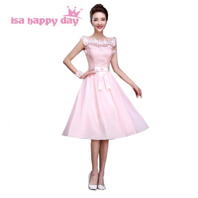 Light pink scoop corto semi formal bow sashes gasa fiesta de té gasa ...