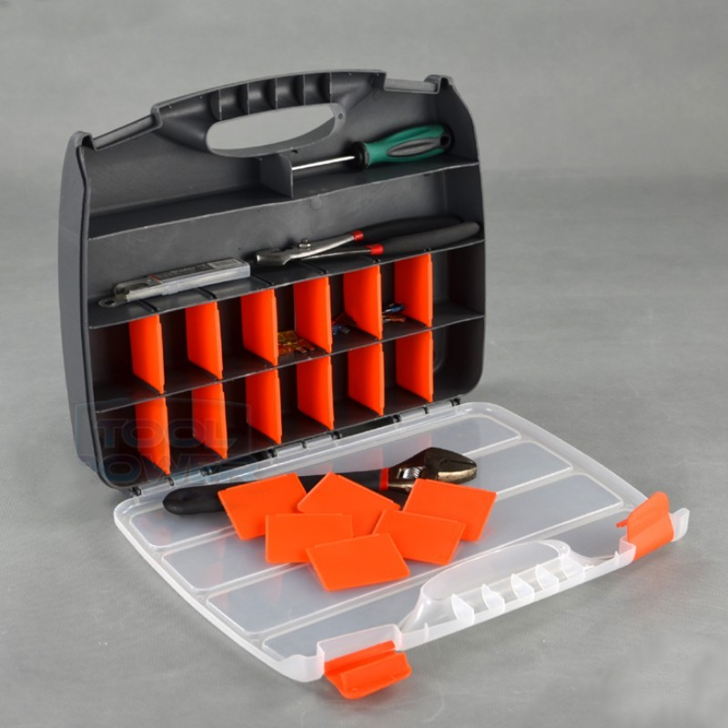 Parts Storage Box Plastic Compartment With Cover Hardware Tool Box Multi-function Combination Classification Screw Box