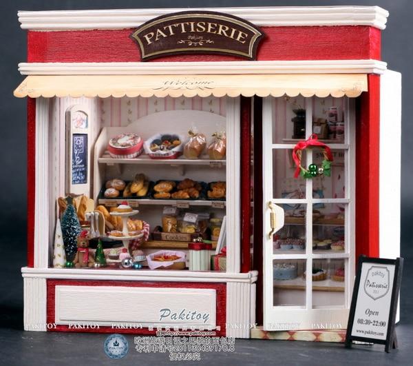 Diy Handmade Wooden 3D Model 1:24 Doll House Puzzle Miniature Toys Dollhouse Creative Birthday ...