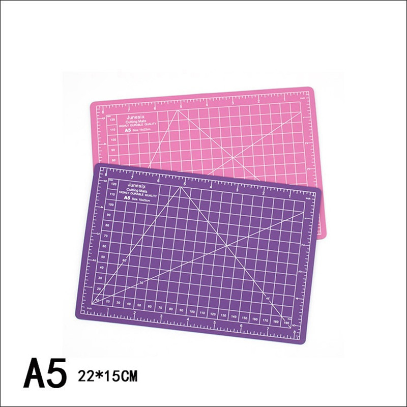 6 Color A5 PVC Cutting Mat Pad Patchwork Home Manual DIY Paper Crafts Cut Tools Double-sided Self-healing Soft Cutting Board 1pc