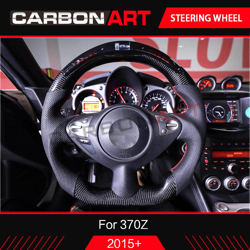 LED race display steering wheel for Nissan 370Z Nismo tech 2d coupe for 370z Z34 led lcd wireless plug and play 370z car styling-in Steering Wheels & Horns from Automobiles & Motorcycles    1