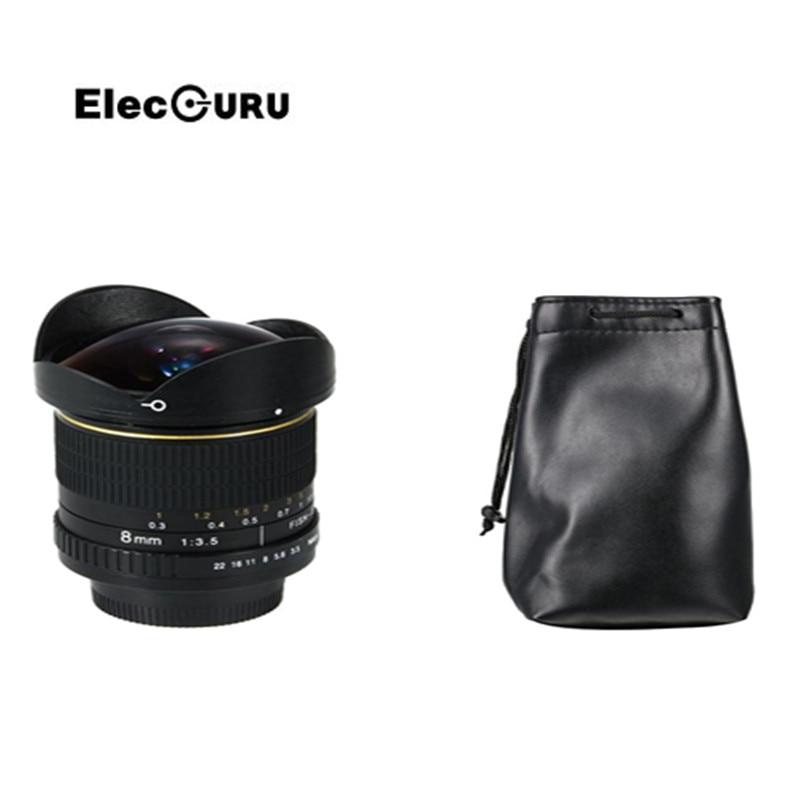 Elecguru 8mm f/3.5 Super-Wide Fisheye Lens Manual Prime for Canon EOS 7D II 70D 60D 750D 700D 650D 600D 550D 100D 1100D 1200D canon eos 1200d