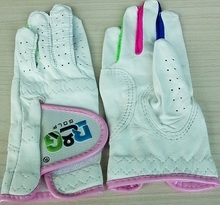 B&G branded hot sale colorful genuine leather children golf gloves