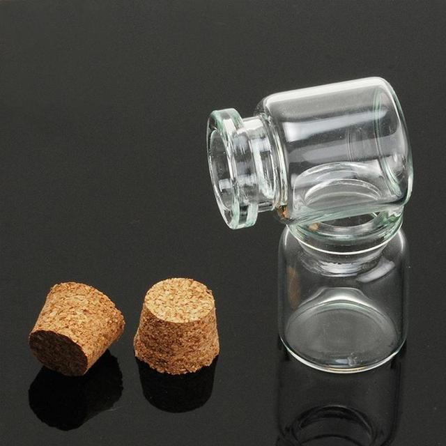 Petites bouteilles en verre 5 ~ 20ml | Mini récipients en verre, décoration type pot maçon, bricolage, petit bouchon de liège, décoration