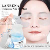 LANBENA Máscara de Olho Patches Para Os Olhos Coreano Reduzir As Olheiras E Bolsas Nos Olhos Patches Anti-Envelhecimento Ácido Hialurônico Levantamento cuidados Com a pele