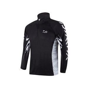 Image 2 - 2020 חדש Daiwa חולצה מקצועי דיג חולצה במבוק סיבי Upf 50 + לנשימה מהיר יבש אנטי Uv חולצה בגדי דיג