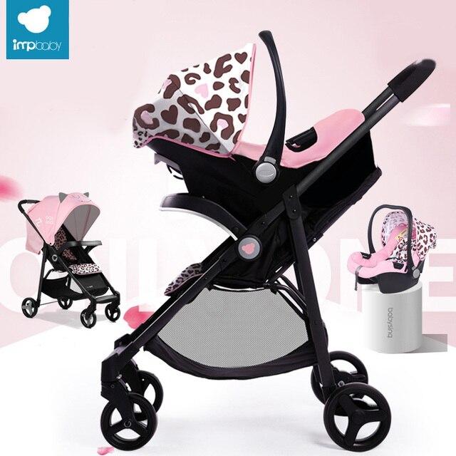 Babysing 2 в 1 Детская Коляска и Портативный Baby Автокресло Складная Открытый Прогуливаясь Коляски и Люльки