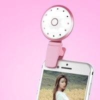 Remplir Lumière Nouveau Design Forme De Une Fleur Remplir Lumière Selfie remplir Lumière Pour IPHONE 4S 5 6 Plus Samsung Tous Les Mobiles téléphones
