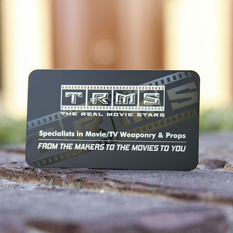 High grade business card metal noble electric Yong black matte card ...