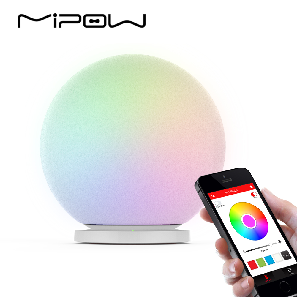 MIPOW PLAYBULB Sphere Smart Color Changing Waterproof Dimmable LED Glass Orb Light Floor Lamp Night Lights Tap to Change Color