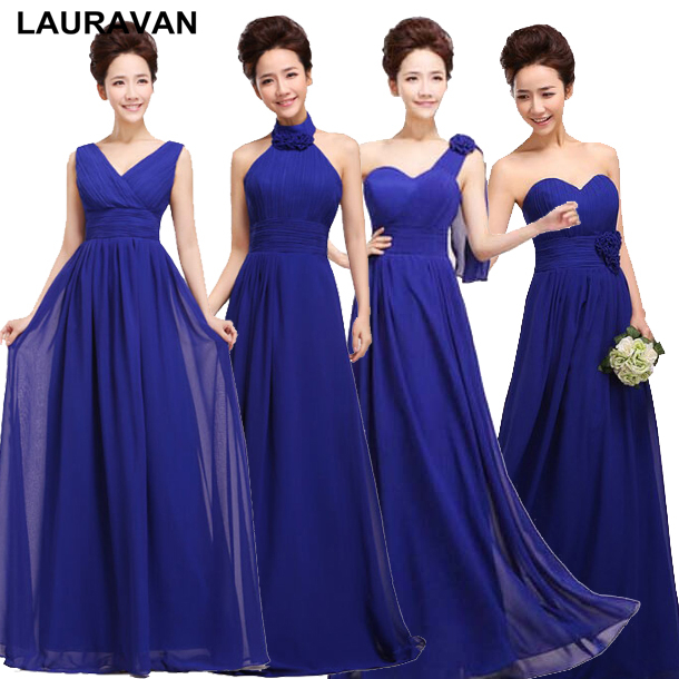 Royal Blue Fashion Plus Size Bridesmaid Dresses Bridemaids Dress Sleeveless Floor Length A-line Appliques For Weddings 2019