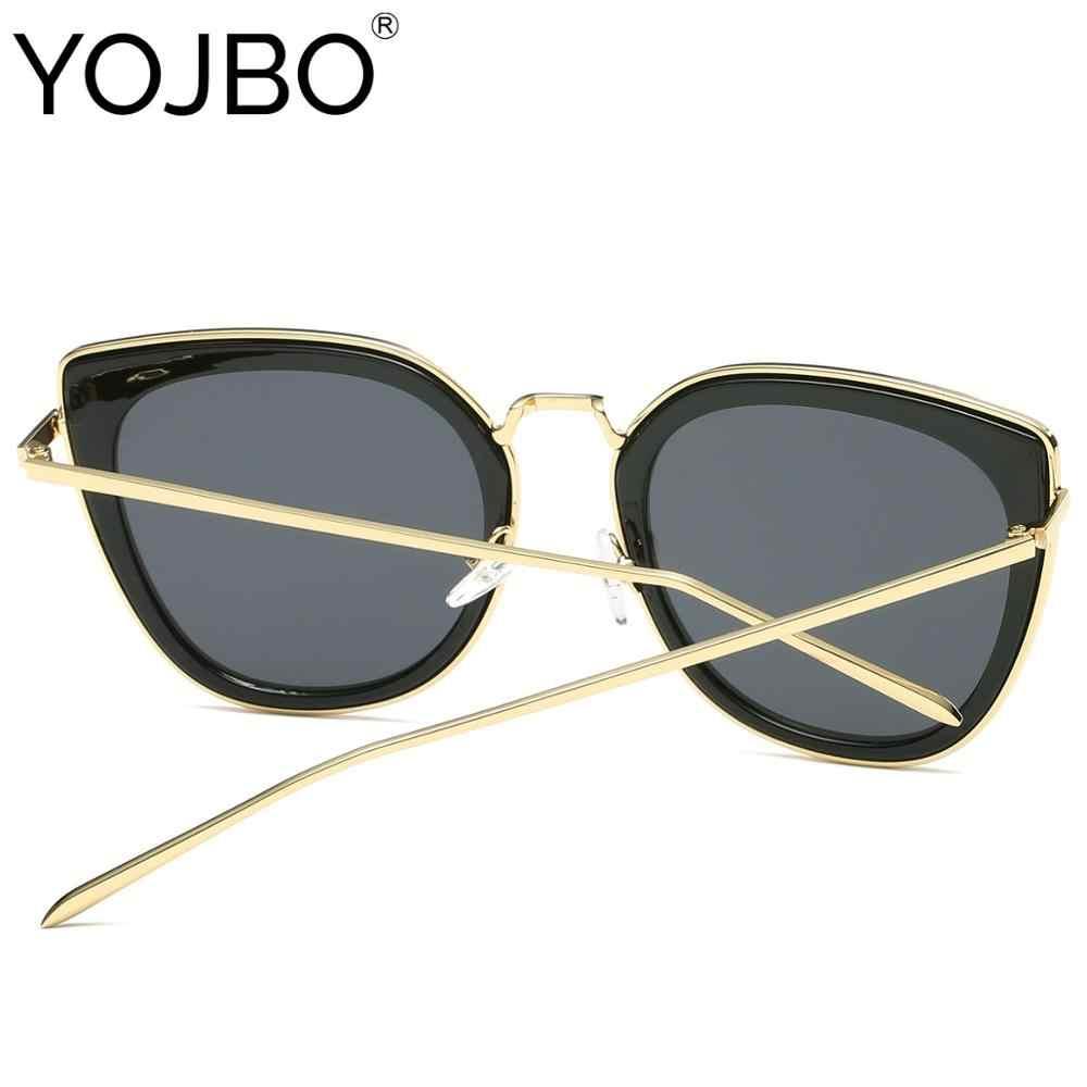 YOJBO Rodada Polarizada Mulheres Óculos De Sol Marca de Luxo Designer de Óculos de Sol Do Vintage Revestimento de Espelho UV400 Shades Feminino Gafas de sol