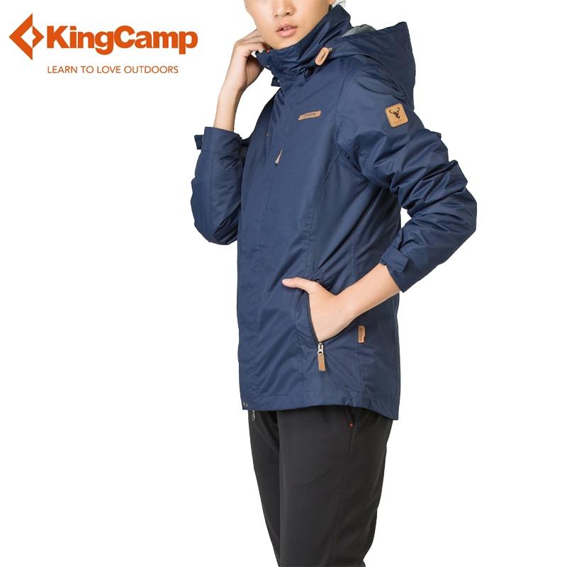 KingCamp Winter Outdoor 3 in 1 Jackets Womens Waterproof Thicken Mountain Jackets Slim Fit Coat 2 Layer Windbreaker Sportswear kingcamp hiker 3