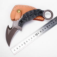 FOX Karambit Knife Fixed Blade Knife Survival Knives Hunting Tactical Knifes Micarta Handle Leather Sheath Camping Outdoor Tools