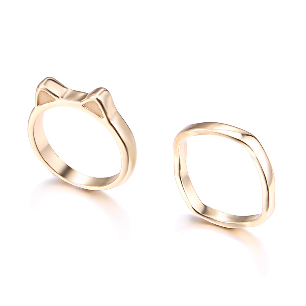 Vintage Jewelry Luminous Cat Ear Rings for Men Gold Ring Glow In ...