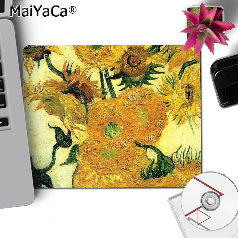 Van Gogh Art Starry Night Round Computer Mouse Pad Mat Laptop