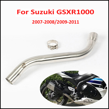 Motorcycle Exhaust Middle Pipe Connect Pipe Muffler Escap Link Pipe Middle Section Adapter Pipe for Suzuki GSXR1000 2007-2011