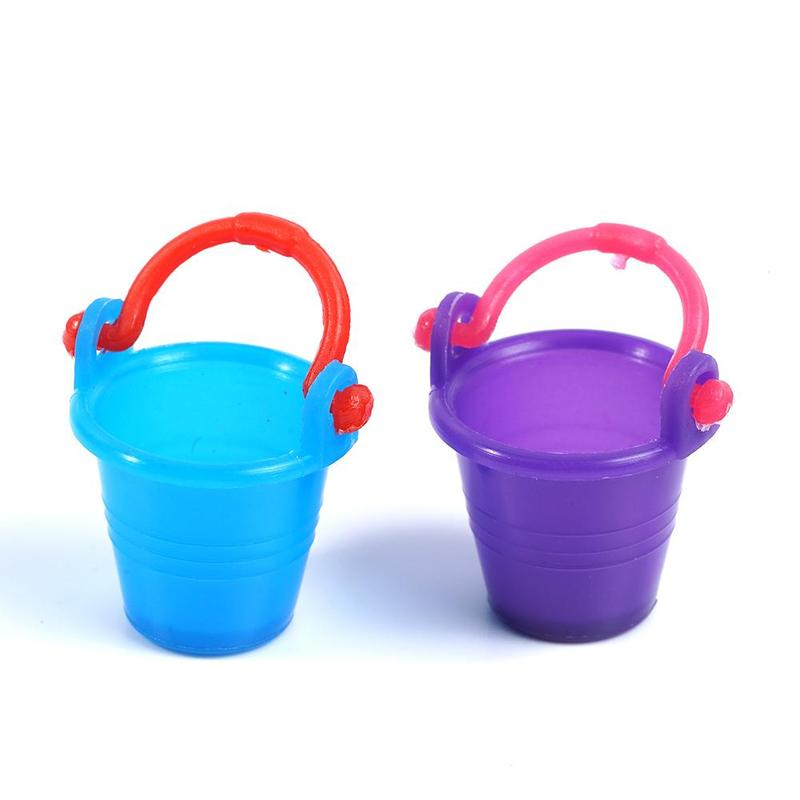 5pcs 1:12 Dollhouse Miniature Water Barrel Bucket Model For 1/12 Dollhouse Bathroom Decor Kids Pretend Play Toy For Children