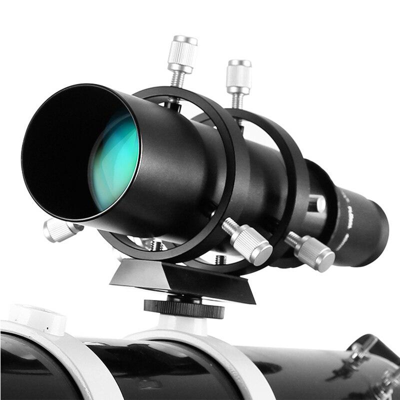 Angeleyes 50mm Finderscope Guide portée entièrement enduit Guidescope Finder oculaire pour jumelles monoculaires télescope d'astronomie