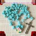 La nave libre 1 unids/set católica del collar del rosario suave Cerami perlas rose rosario religiosos rosarios suave arcilla del rosario del grano