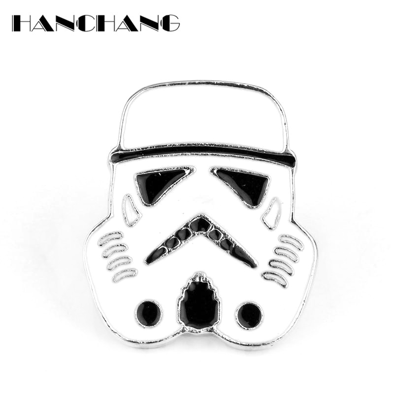 Men Jewelry Fashion Enamel Pin Stormtrooper Brooch Pin Button Pins Star Wars Warrior Game Badges Pins Accessories Bijouterie