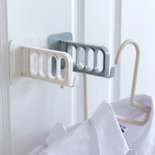 Creative Solid Foldable Key Decorative Hooks Multi-function Door Strong Adhesive Storage Rack Hanging Coat