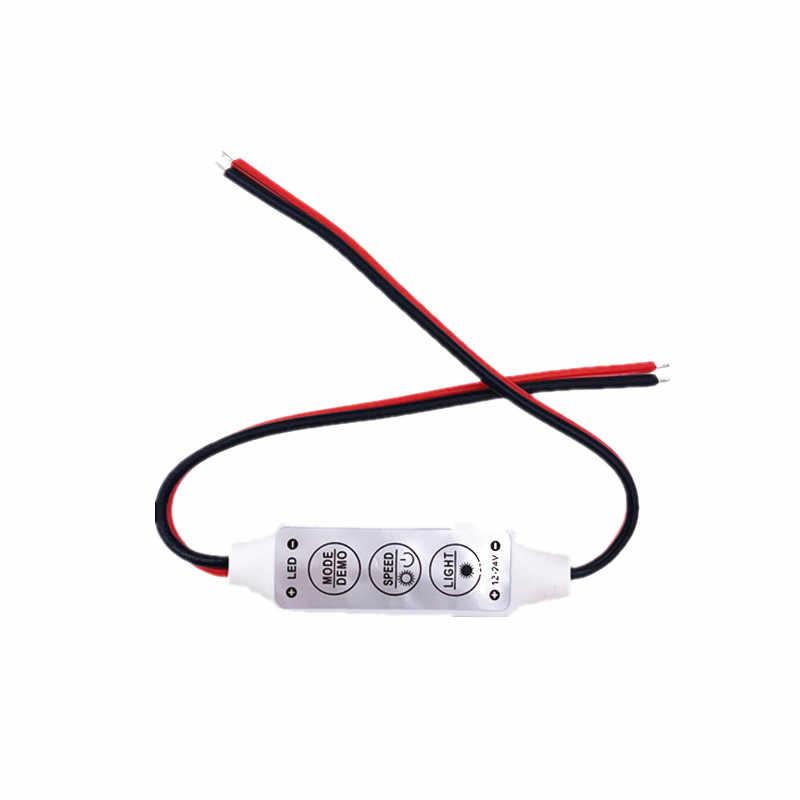1 pcs 단일 색상 foxanon 조 광 기 컨트롤러 스위치 12 v dc 3 키 5050 3528 5630 5730 3014 led 스트립 램프 조명