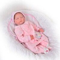 22 дюймов Реалистичная Reborn жив Куклы Мягкие силиконовые 55 см хлопок тела реалистичные для маленьких девочек куклы игрушка для малышей Рожде