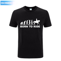 2017 New Human Horse Riding Eevolution Born To Ride Printed Men S T Shirt Short Sleeve