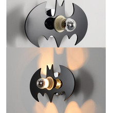 Buy batman wall light and get free shipping on aliexpress ondenn surface mounted creative batman wall light e27 bulb wall lamp 2pcs aloadofball Choice Image