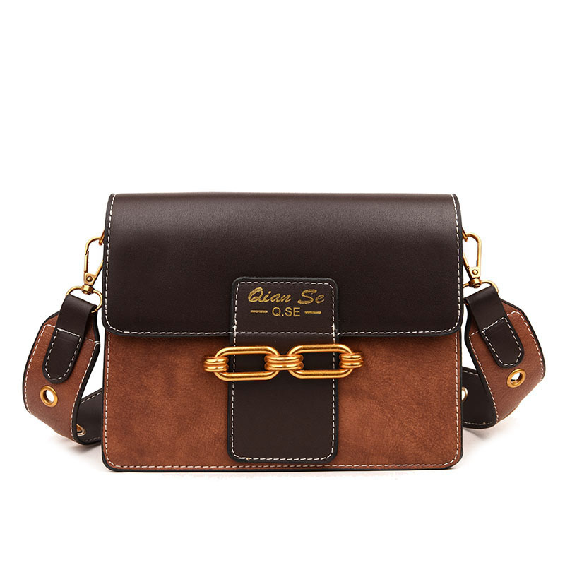 Fashion Women Bag Ladies Leather Double Wide Strap